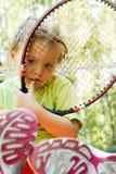 一点球员网球 库存照片
