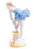 一点瓷跳芭蕾舞者 库存照片