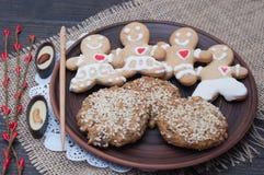 以一点的形式自然饼干全麦和曲奇饼 库存图片