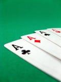 一点看板卡赌博的啤牌 库存图片