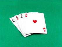 一点看板卡赌博的啤牌 免版税库存照片