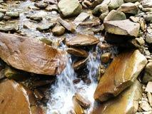 一点石瀑布 库存照片