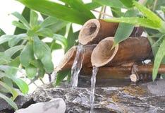 一点竹喷泉 免版税库存照片