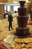 一点美国旅馆旗竿感恩早午餐巧克力F 免版税库存照片