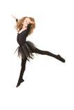 一点芭蕾舞女演员女孩跳跃 免版税图库摄影