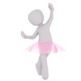 一点芭蕾舞女演员提高 免版税库存照片