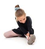 一点芭蕾舞女演员舒展 库存照片