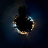 一点行星:纽伦堡港口 免版税库存图片