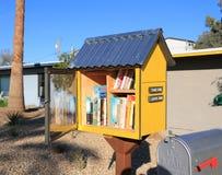 一点街道图书馆在坦佩,亚利桑那 免版税库存图片