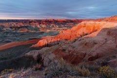 一点被绘的沙漠 免版税库存图片