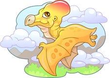 一点逗人喜爱的恐龙翼手龙,滑稽的例证 库存照片
