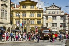 一点镇中心,布拉格 免版税图库摄影