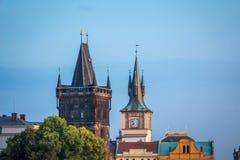 一点镇塔在布拉格 库存图片