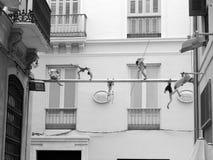 一点雕象在西班牙 库存照片