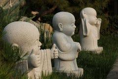 一点Buddhas 免版税库存图片