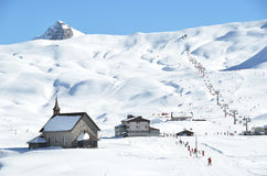 Chappel在Melchsee-Frutt,瑞士 免版税库存图片