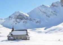 Chappel在Melchsee-Frutt,瑞士 库存图片