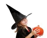 一点hallowen巫婆 库存照片