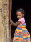 一点Himba女孩,纳米比亚 库存图片