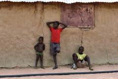 一点Himba男孩,纳米比亚 库存照片