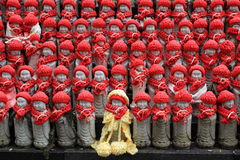 一点Jizo雕象在日本 库存照片