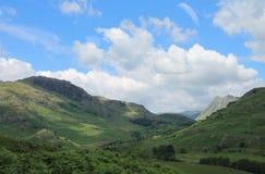 一点Langdale Cumbria 库存图片