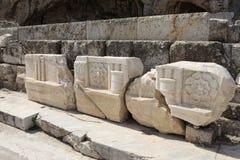 一点Propylaia,古老埃莱夫西纳遗骸  免版税库存图片