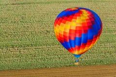 一热空气气球留尼汪岛 库存图片
