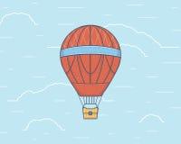 一热空气baloon的传染媒介例证 旅行 免版税库存图片