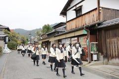一热观光在英雄传奇toriimoto保存了街道 免版税图库摄影