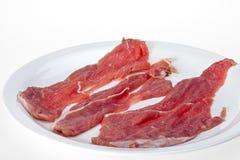 一片无骨的肉 免版税库存照片