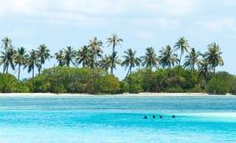 一特别天在马尔代夫 库存图片