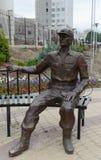 一现代警察构成`的雕塑由法律`一直守卫了在Minist的主要董事会的大厦附近 图库摄影