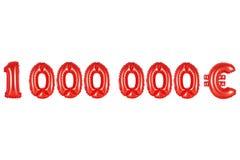 一百万欧元,红颜色 免版税库存图片