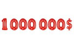 一百万美元,红颜色 库存照片