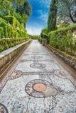 一百个喷泉,别墅d'Este, Tivoli,意大利 库存图片