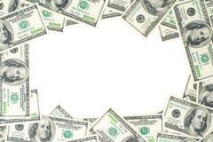 一百元钞票框架  美元的骨骼 免版税库存照片