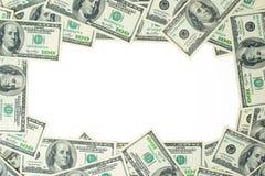 一百元钞票框架  美元的骨骼 免版税库存图片