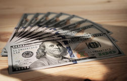 一百元钞票的样式 免版税图库摄影