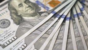 一百元钞票顺利地转动 股票录像