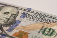 一百元钞票,宏观摄影 免版税库存图片