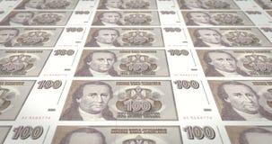 一百南斯拉夫的丁那老南斯拉夫,现金金钱钞票  库存例证