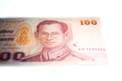 一百张泰国钞票 免版税库存照片