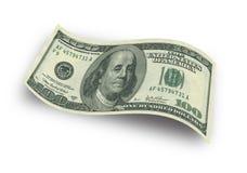 一百张美元钞票 图库摄影