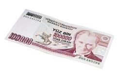 一百数以万计里拉钞票20世纪90年代 免版税库存图片