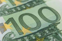 一百欧元金钱钞票  免版税库存照片