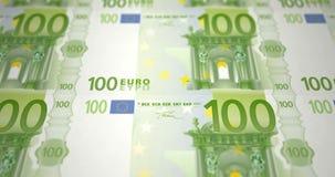 一百欧元钞票在印刷品,圈的 皇族释放例证