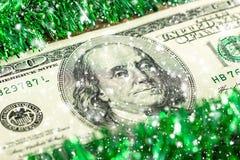一百美元圣诞节概念 免版税库存照片