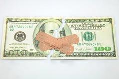 一百美元的票 图库摄影