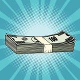 一百美元票据、财富、事务和Financ包裹  免版税库存图片